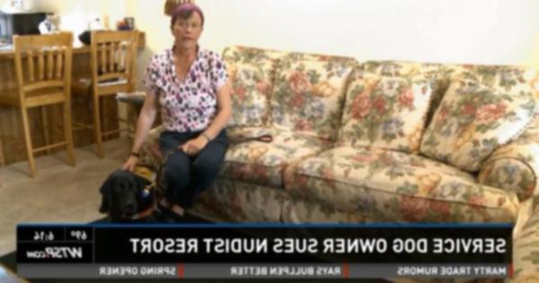 Собака-поводырь больше не приветствуется на нудистском курорте Флориды