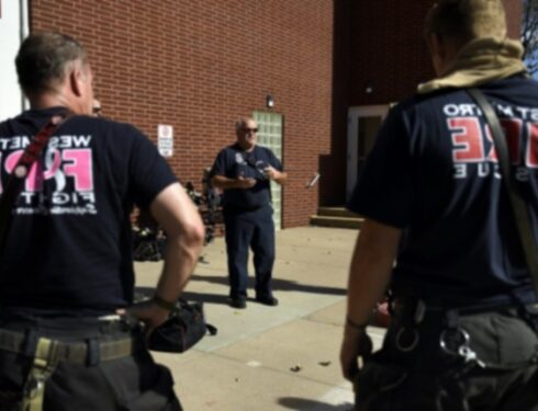 Ремми Собака-терапевт помогает управлять психическим здоровьем пожарных в пожарной части Колорадо